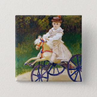 Jean Monet on a Mechanical Horse Claude Monet Pinback Button