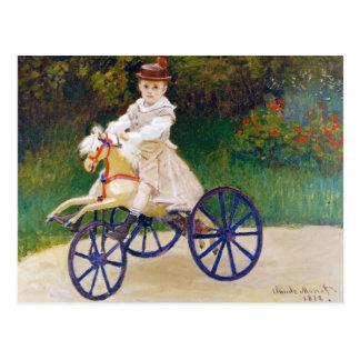 Jean Monet on a Mechanical Horse Claude Monet Postcard