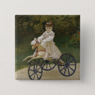 Jean Monet on his hobby horse Button
