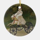 Jean Monet on his hobby horse Christmas Ornament