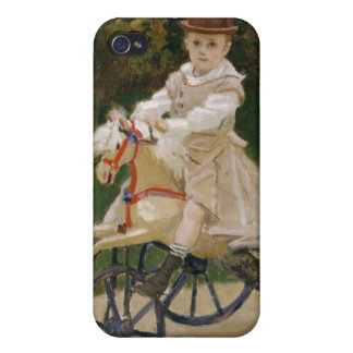 Jean Monet on His Hobby Horse - Claude Monet iPhone 4/4S Covers