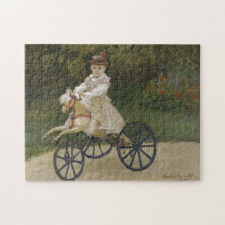 Jean Monet on his hobby horse Jigsaw Puzzle