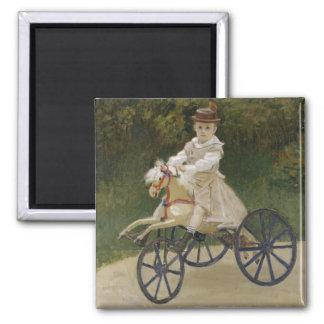Jean Monet on his hobby horse Magnet
