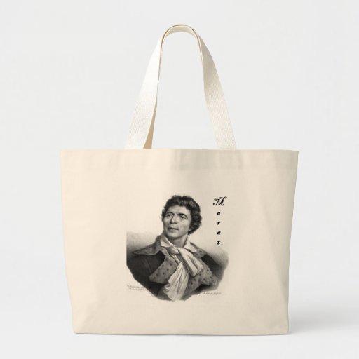 Jean-paul_marat_1 public domain with blackadder jumbo tote bag