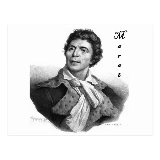 Jean-paul_marat_1 public domain with blackadder postcard