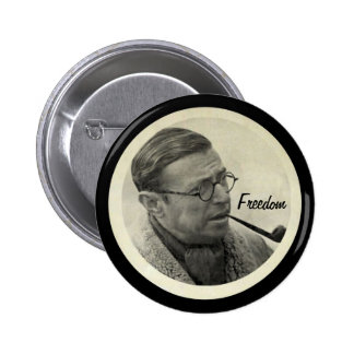 Jean-Paul Sartre 2 Inch Round Button