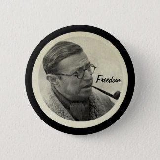 Jean-Paul Sartre Button