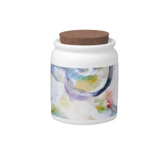 jean paul sartre - watercolor portrait candy jar