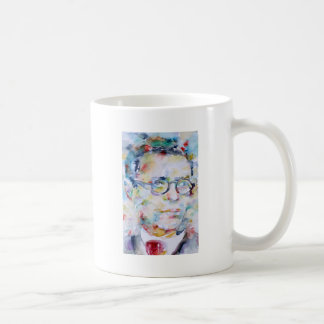 jean paul sartre - watercolor portrait coffee mug