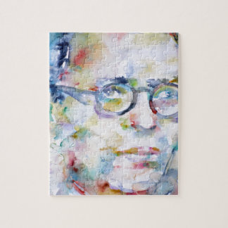 jean paul sartre - watercolor portrait jigsaw puzzle