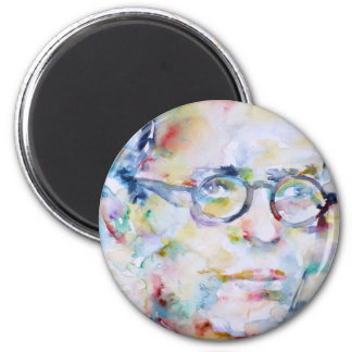 jean paul sartre - watercolor portrait magnet