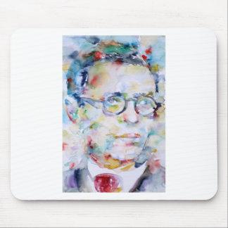 jean paul sartre - watercolor portrait mouse pad