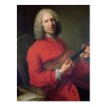Jean-Philippe Rameau con un violín Postal