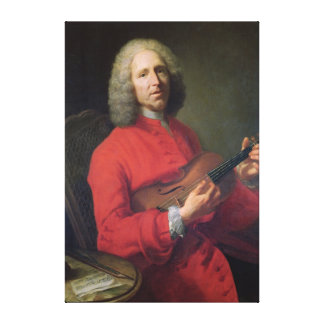 Jean-Philippe Rameau  with a Violin Canvas Print