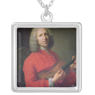 Jean-Philippe Rameau  with a Violin Square Pendant Necklace