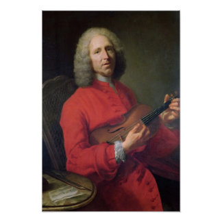 Jean-Philippe Rameau  with a Violin Poster