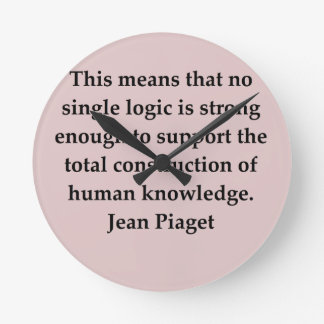 jean piaget quote wall clock