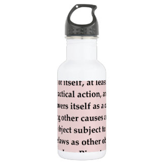 jean piaget quote 18oz water bottle