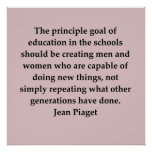 jean piaget quote poster