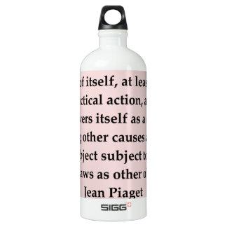 jean piaget quote SIGG traveler 1.0L water bottle