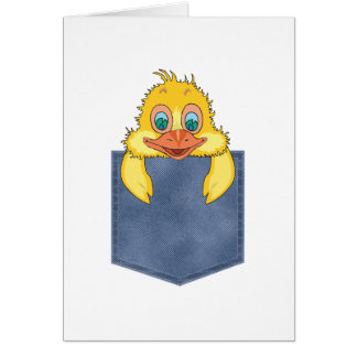 Jean Pocket Baby Duck Greeting Card