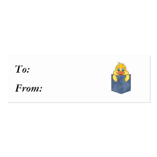 Jean Pocket Baby Duck Mini Business Card