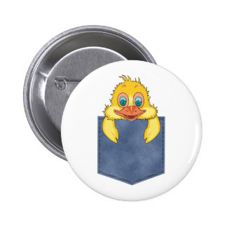 Jean Pocket Baby Duck Pinback Buttons