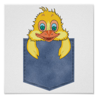 Jean Pocket Baby Duck Posters