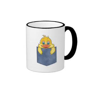 Jean Pocket Baby Duck Ringer Coffee Mug
