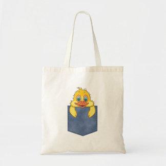 Jean Pocket Baby Duck Tote Bag
