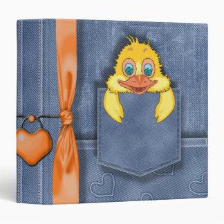 Jean Pocket Baby Duck Vinyl Binder