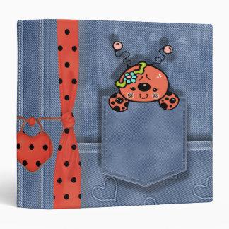 Jean Pocket Baby Lady Bug Binder