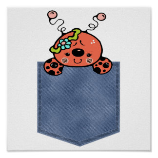 Jean Pocket Baby Lady Bug Poster