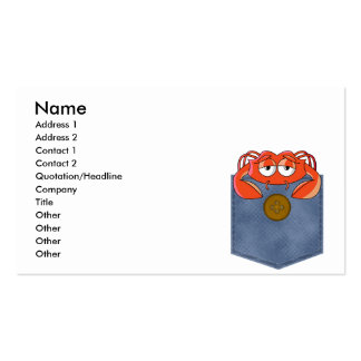 Jean Pocket Crabby Crab Business Card Template
