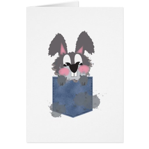 Jean Pocket Dust Bunny Greeting Cards