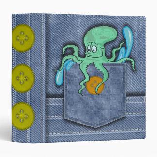 Jean Pocket Octopus Binder