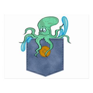 Jean Pocket Octopus Post Card