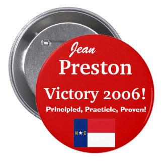 Jean Preston for N.C. Senate Pinback Button