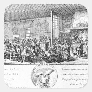 Jean Ramponneau's Tavern Square Sticker