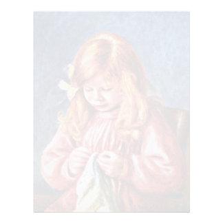 Jean Renoir en la costura de Pierre-Auguste Renoir Membretes Personalizados
