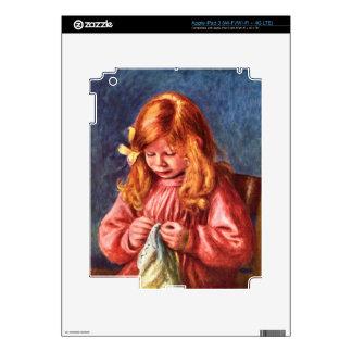 Jean Renoir sewing by Pierre Renoir Skin For iPad 3