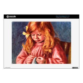 Jean Renoir sewing by Pierre Renoir Skin For Acer Chromebook