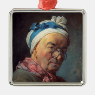 Jean Simeon Chardin- Self-Portrait with Spectacles Christmas Tree Ornaments
