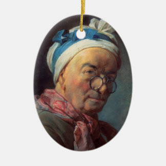 Jean Simeon Chardin- Self-Portrait with Spectacles Christmas Ornaments