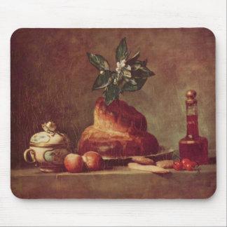 Jean-Simeon Chardin- Still life with Brioche Mousepad