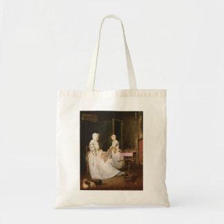 Jean-Simeon Chardin- The Hard working Mother Canvas Bags