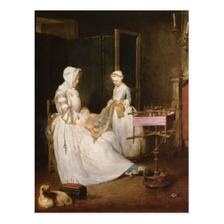 Jean-Simeon Chardin- The Hard working Mother Postcard
