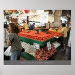 Jean Talon Market Vendor - Montreal Quebec Poster