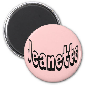 Jeanette 2 Inch Round Magnet