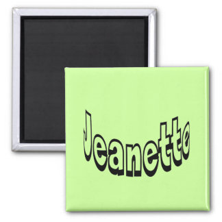 Jeanette 2 Inch Square Magnet
